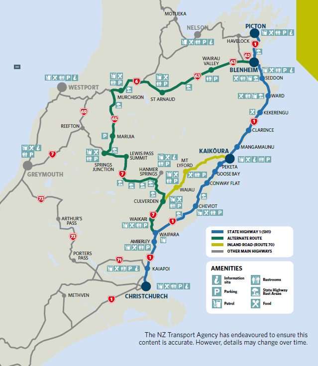 Planning your drive between Picton and Christchurch | Avis